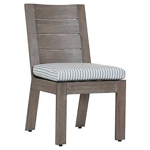 Laguna Side Chair, Ivory/Blue