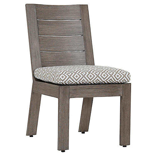 Laguna Side Chair, Tan/White