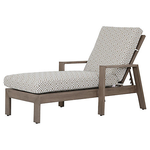 Laguna Chaise, Tan/White