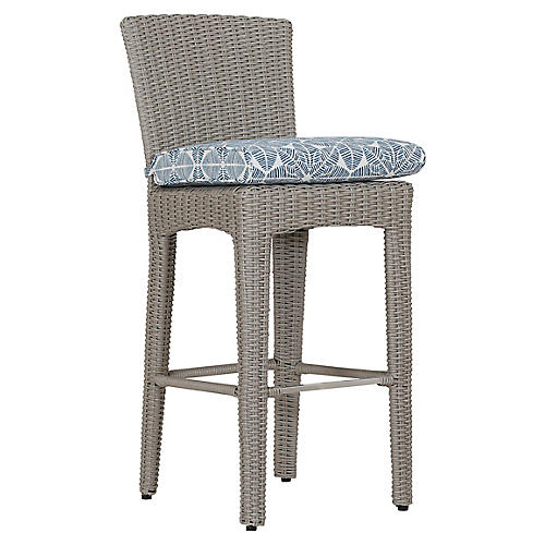 Manhattan Barstool, Ivory/Blue