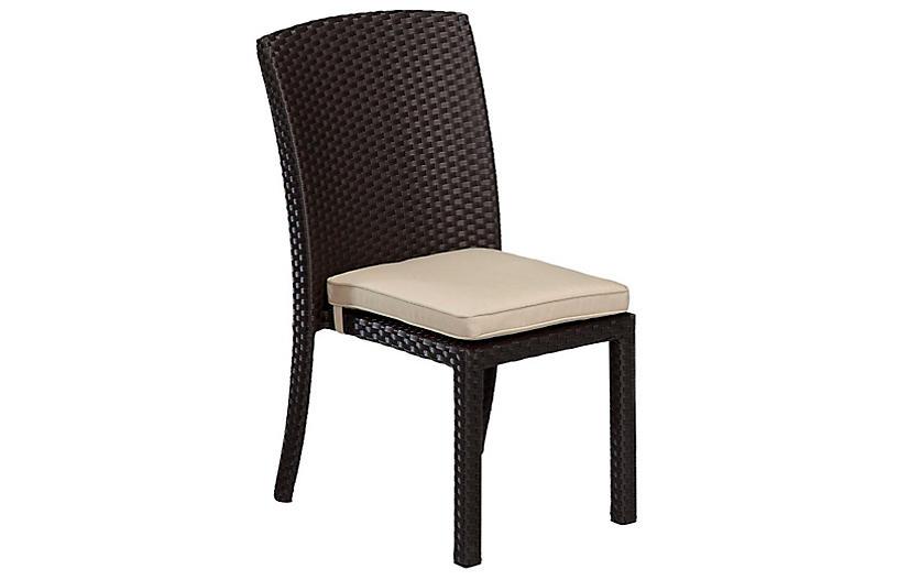 Solana Side Chair, Sunbrella, Beige