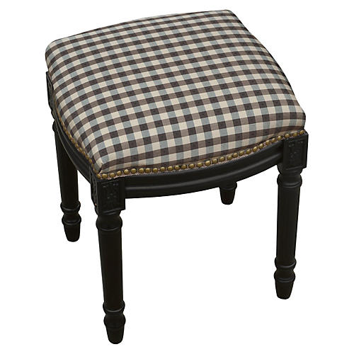 Kara Stool, Black Gingham