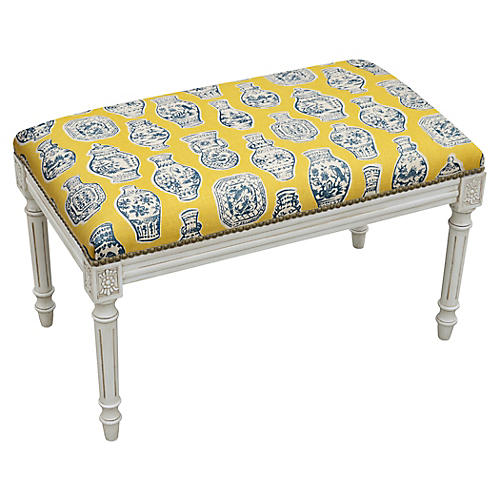 "Ollie 32"" Bench, Yellow Ginger Jar"