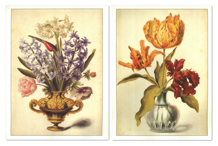 Florentine Bouquets I, Set of Two