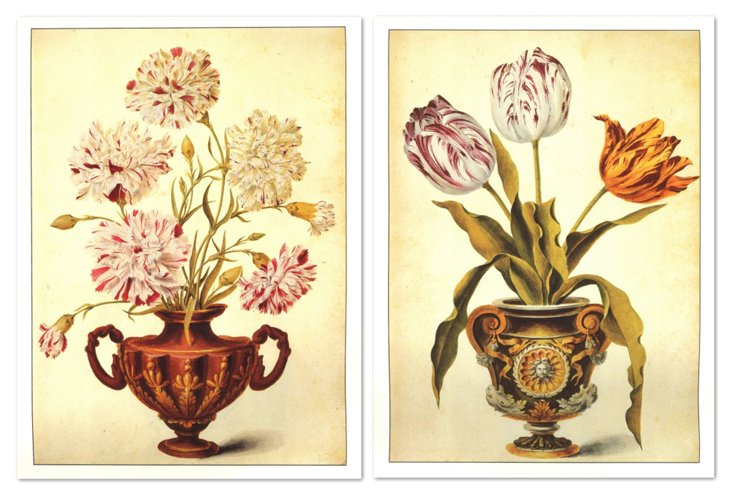 Florentine Bouquets III, Set of Two