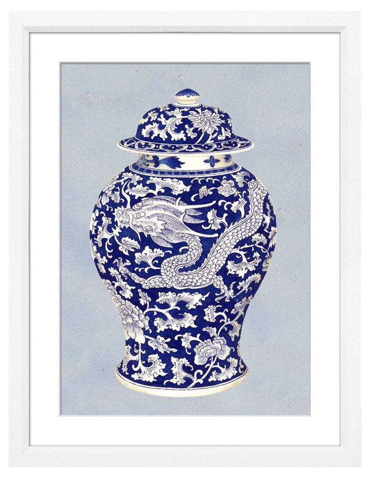Chinoiserie Blue Pot II