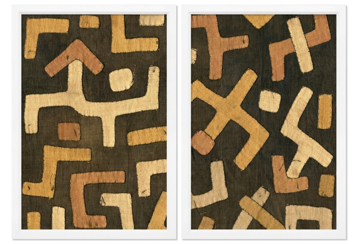 Kuba Cloth II Diptych