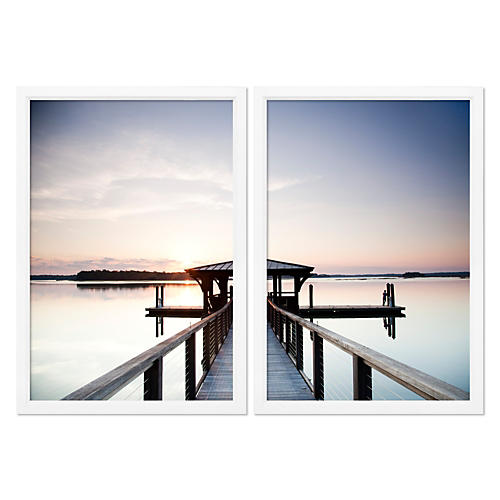 Lake Pier Diptych