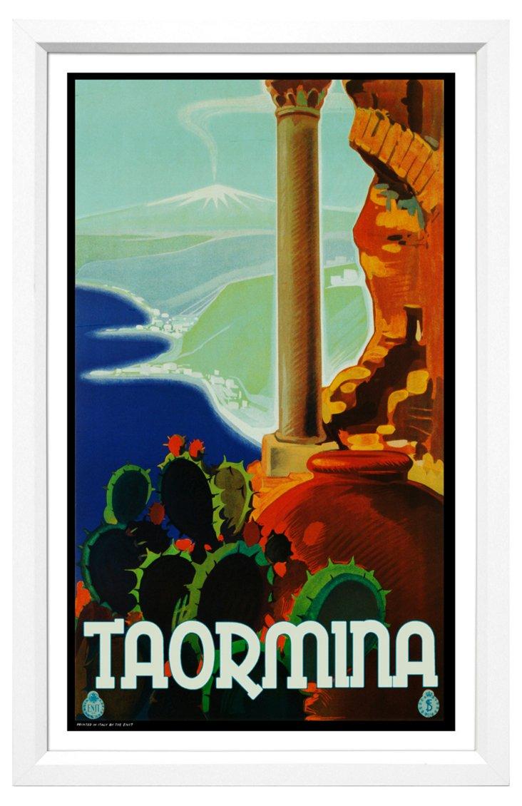 Taormina Travel Poster