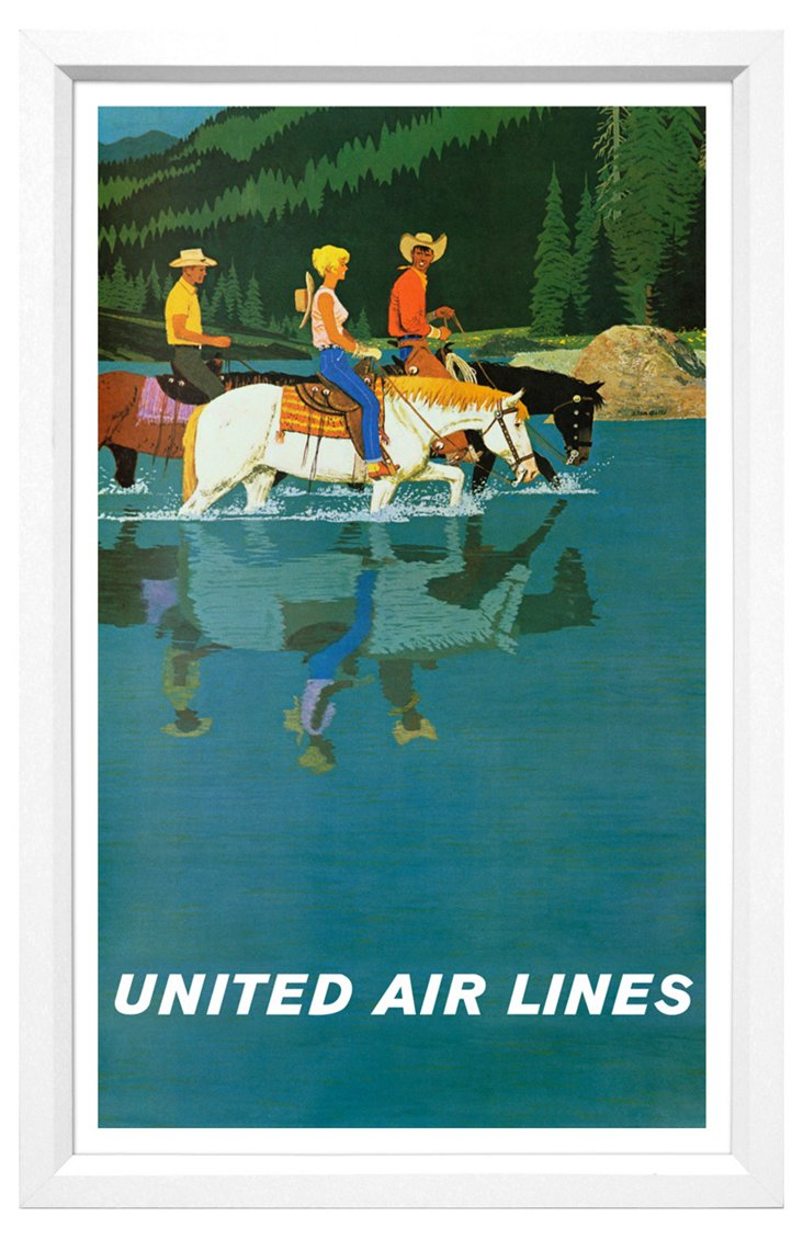 United Airlines Travel Poster II
