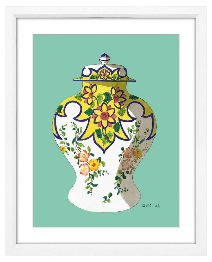 Fourmaintraux Teal Vases IV