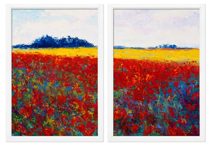 Monet's Meadows Diptych