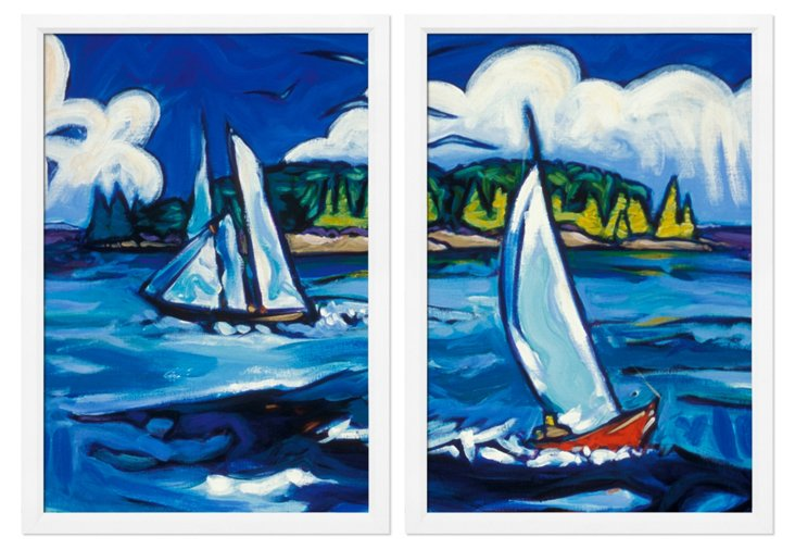 Sail Away Diptych