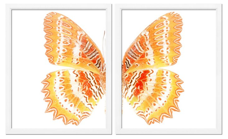 Yellow Butterfly Diptych