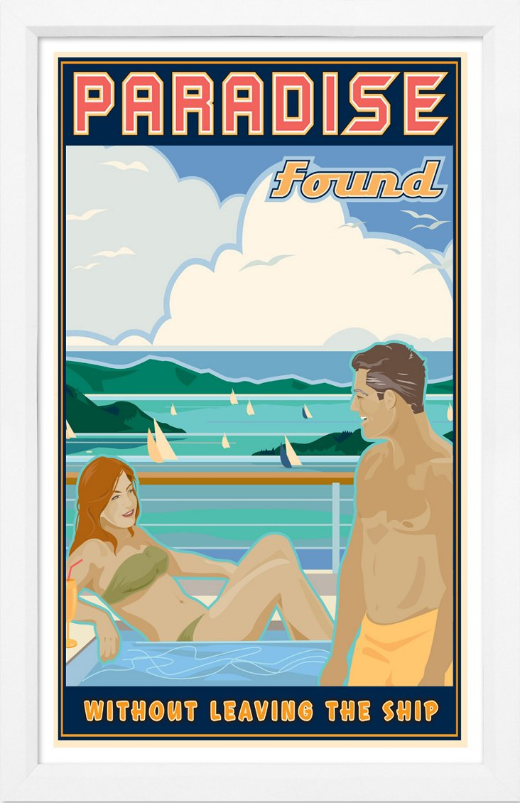 Paradise Travel Poster