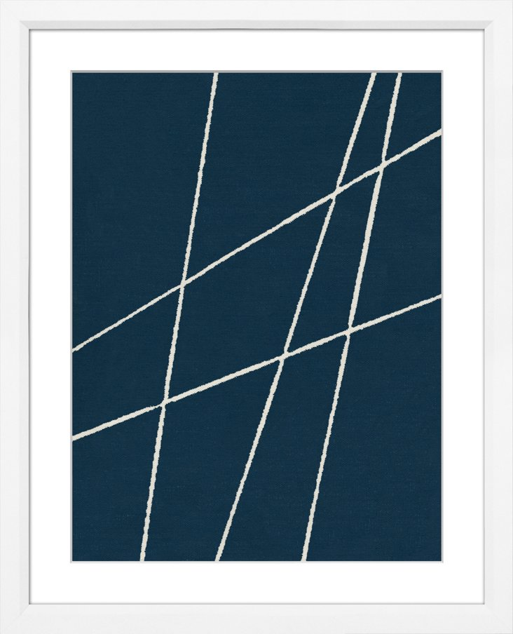 Sienna Maddox, Navy Blue Abstract V