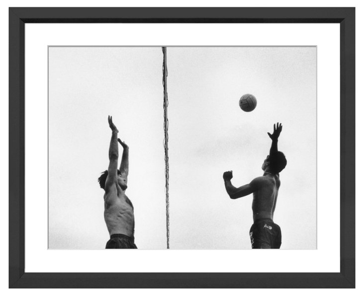 Beach Volleyball at the Net