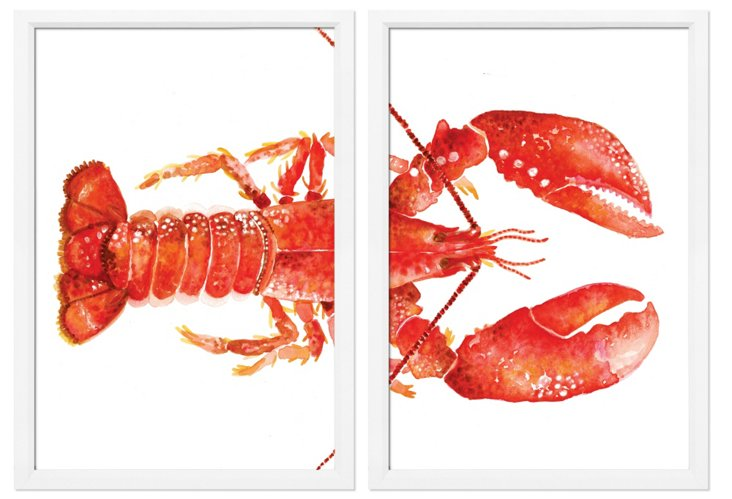 New England Lobster II Diptych