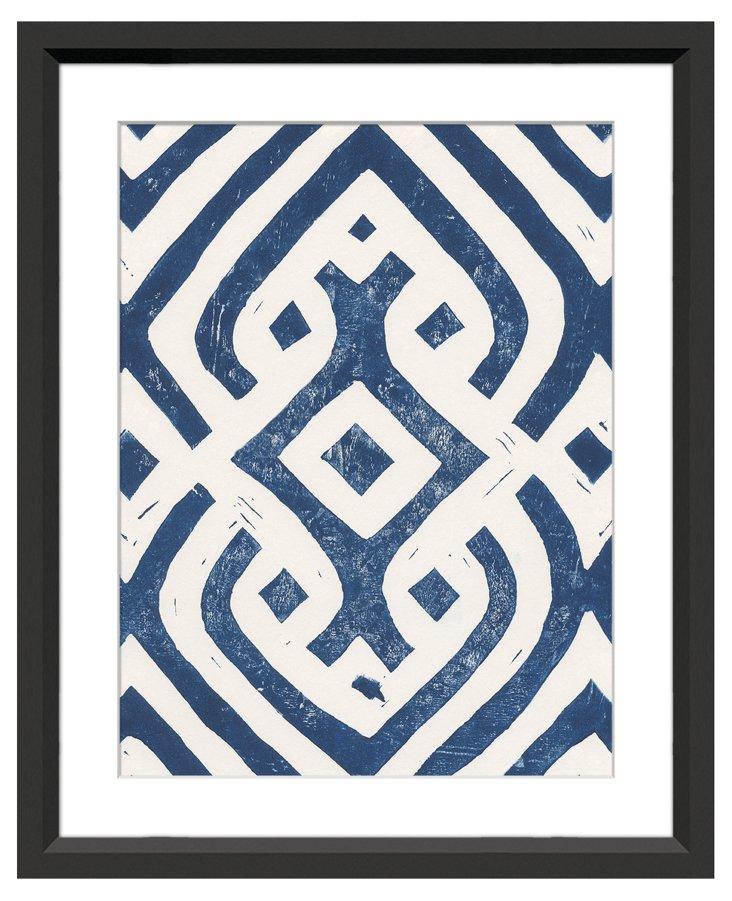 Sienna Maddox, Blue Pattern Lino II