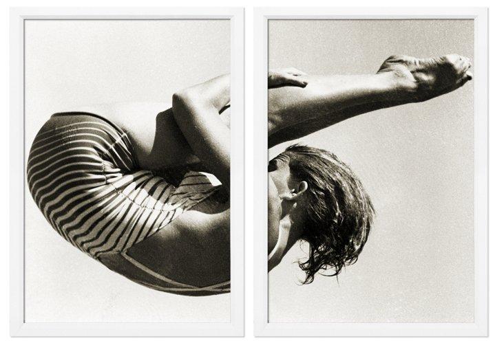 Philip Gendreau, Sepia Diver Diptych