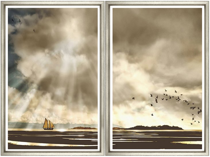 Sunshine Clouds Diptych