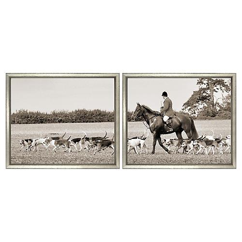 Horses III Diptych Panorma