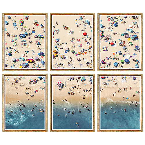 W. Stafford, Aerial Summer Beach (6-Pc)