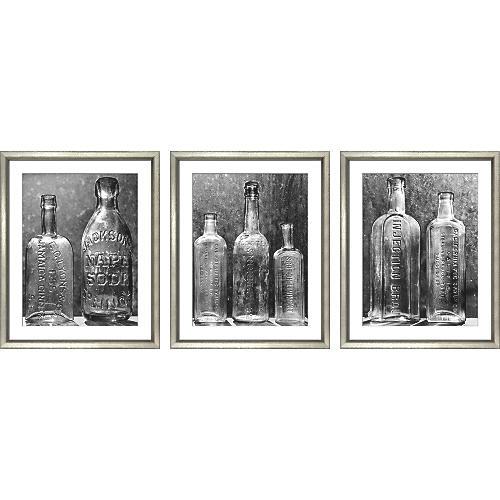 William Stafford, Vintage Bottles Triptych