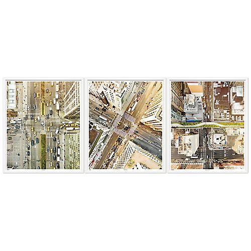 New York Aerial Triptych, William Stafford