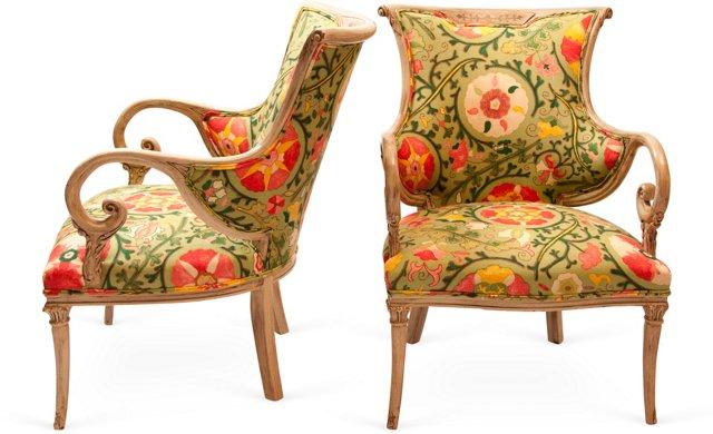 Aladdin Chairs, Pair