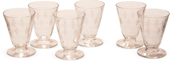 Port Glasses, Set of 6