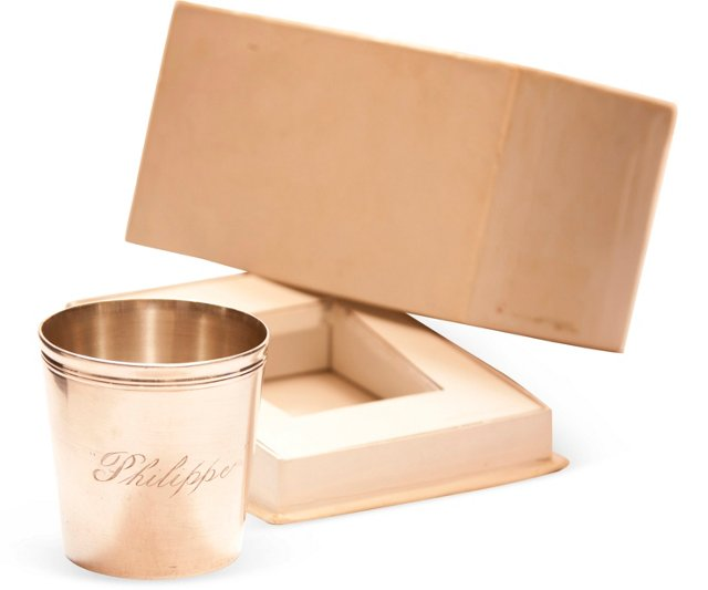 Christofle Silver Baby Cup