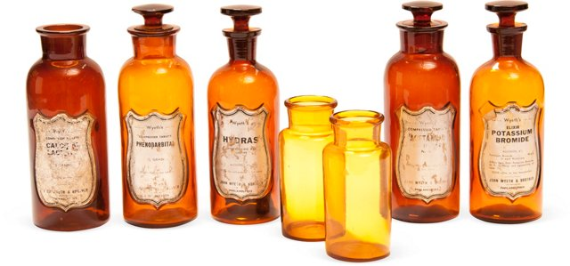 Apothecary Jars, Set of 7