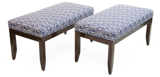 Vintage Benches, Pair