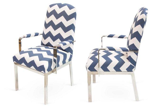 Chevron Dining Chair, Pair, II