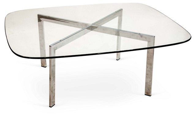 Glass X-Base Table