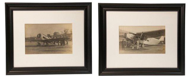 Aeroplane Photos I, Set of 2
