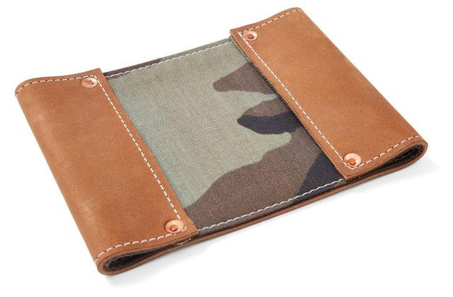 Boot Leather Wallet, Camo Canvas