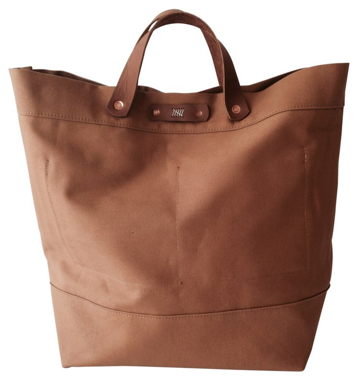 Leather Dylan Tote, Tan