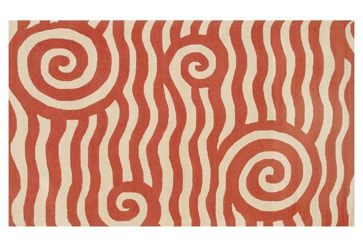 5'x8' Yala Outdoor Rug, Terracotta