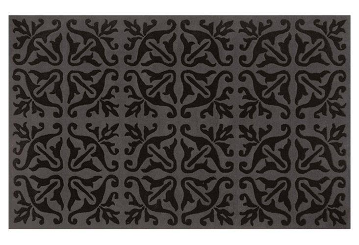 5'x8' Branch Rug, Charcoal/Black