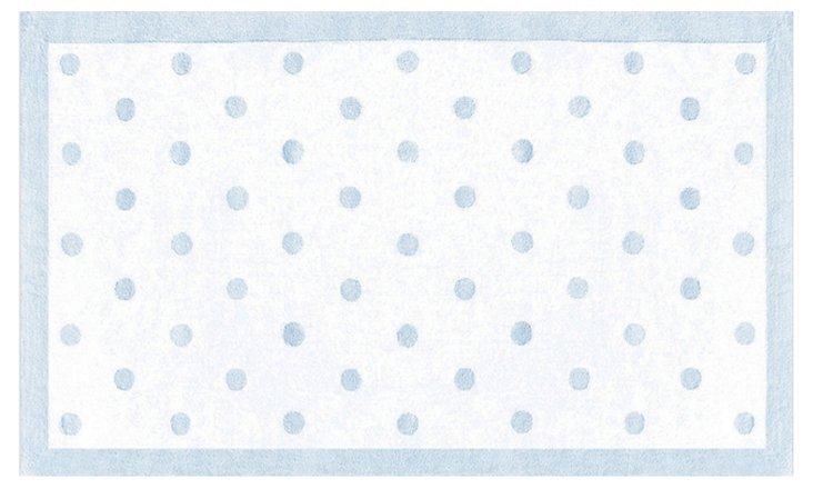 Polka Dot Rug, Light Blue
