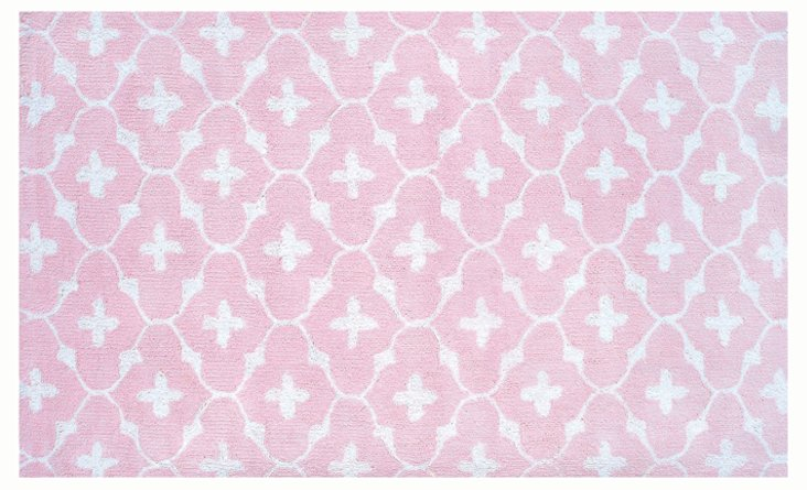 Coco Rug, Pink/White