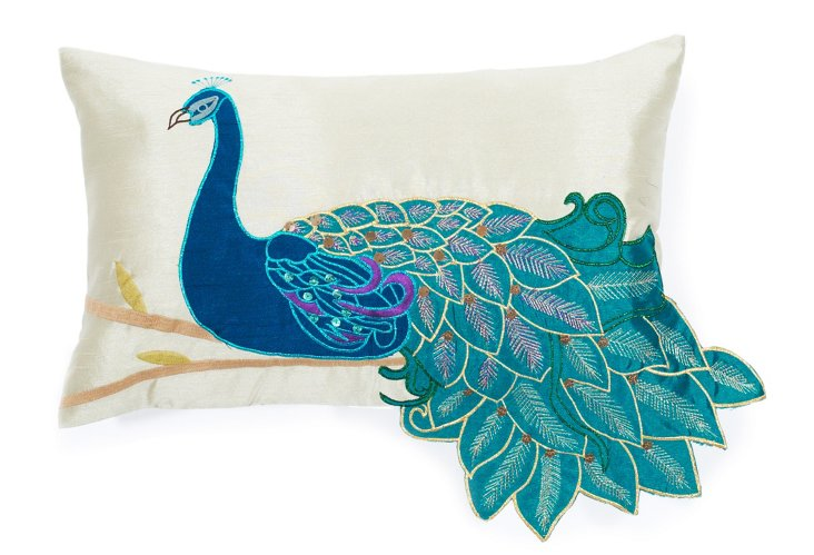 Peacock 12x20 Pillow, Multi