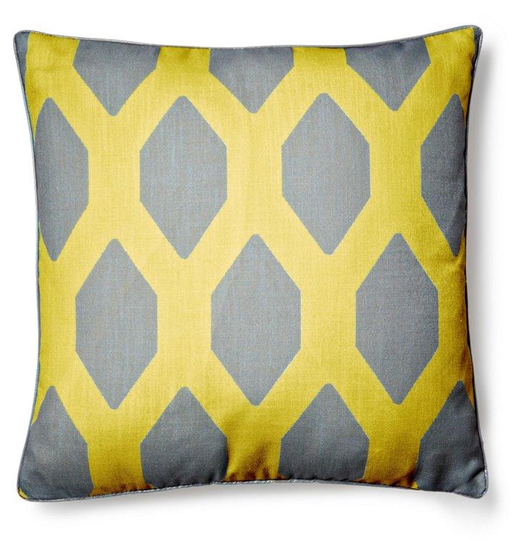 Kai 20x20 Pillow, Mimosa/Gray