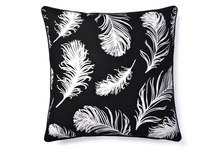 Fiarella 20x20 Pillow, Black/White