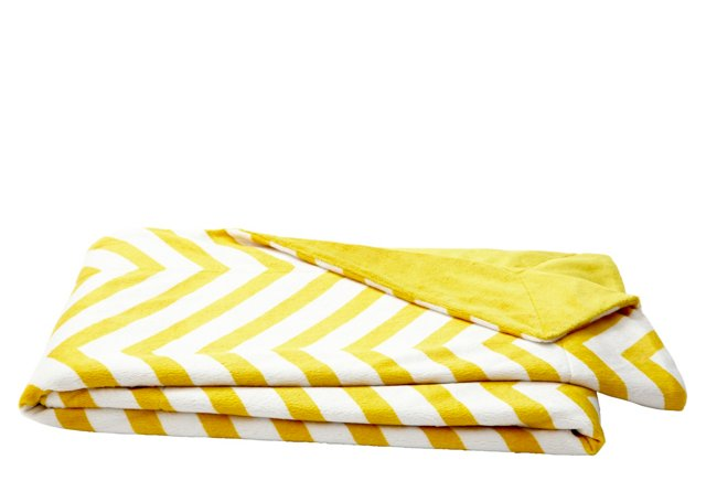 Reversible Chevron Throw, Lemon Curry