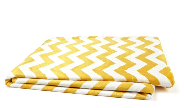 Chevron Throw, Lemon Curry