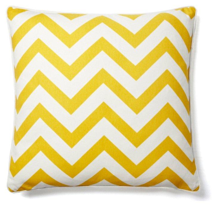 Chevron 20x20 Pillow, Yellow