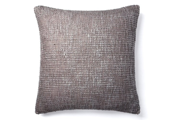 Nico 20x20 Pillow, Frost Gray